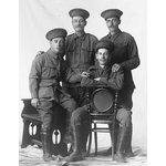 108137PD: Percy John Mapstone and friends, 1915. (It is not known which man is Mapstone)