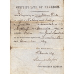 Certificate of freedom, 1869
