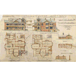 ACC 7012A/1: Proposed residence Hay St Perth for J F T Hassell Esq, Bastow & Marwood, Architects, 1904. Drawing no.1