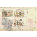 ACC 7012A/2: Proposed residence Hay St Perth for J F T Hassell Esq, Bastow & Marwood, Architects, 1904. Drawing no.2