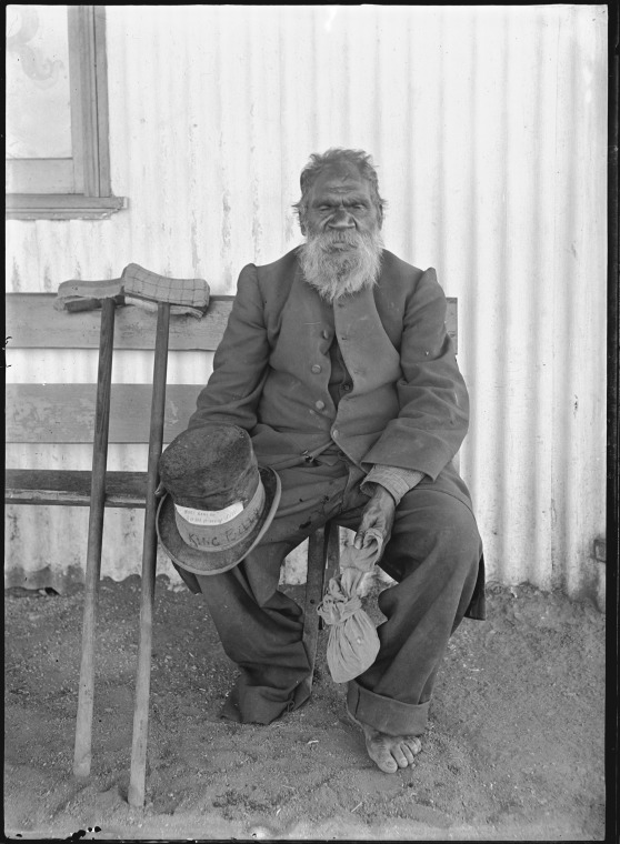 006404PD: King Billy, a Murchison Aboriginal, W.A., ca.1908 (Click to Start Zoom)