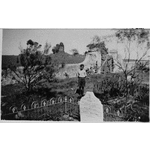067382PD: Gwalla Cemetery with the ruins of the church behind, 8 August 1948