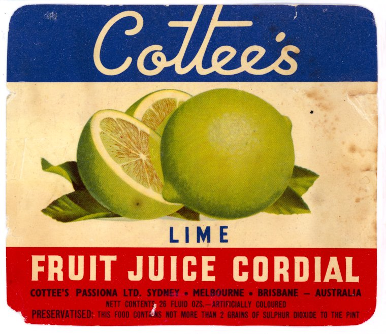 PR8499/LAB/319 Cottees Lime Fruit Juice Cordial (Click to Start Zoom)