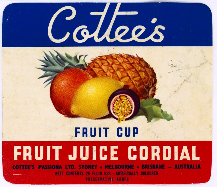 PR8499/LAB/320 Cottees Fruit Cup Fruit Juice Cordial (Click to Start Zoom)