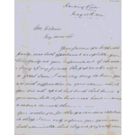 ACC 8542AD/1: Letter to John Wellard from William Hall, Andover Station (in 2 parts,  May 25 & July 24, 1864)