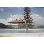 311876PD: Windsor Hall, Queens Crescent, Mt Lawley, September 1982. From the Beaufort St. side across the Perth College Swimming Pool
