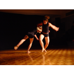 Mim Wheeler and Narelle Codalonga in motion, performing Collaboration by Chrissie Parrott and Jonathan Mustard, Club Zho 45, 2003