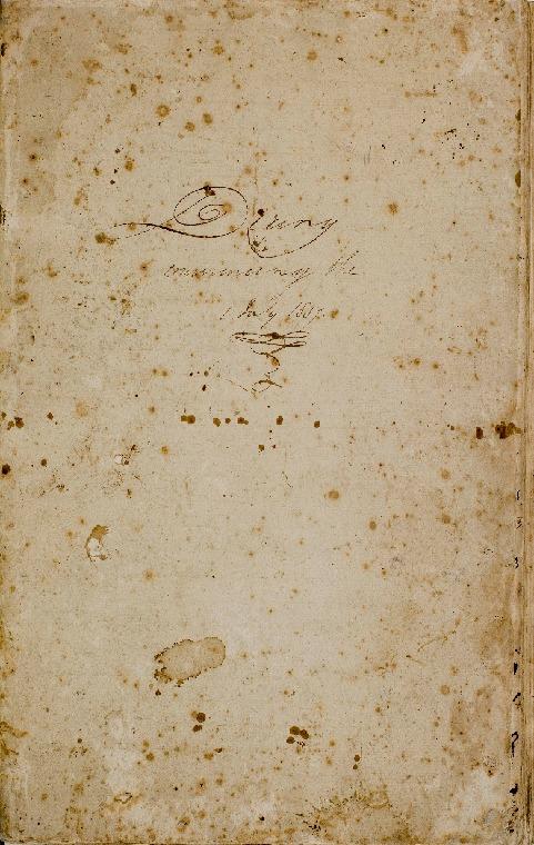 Acc 6927A/2: Diary 1837 - 1840