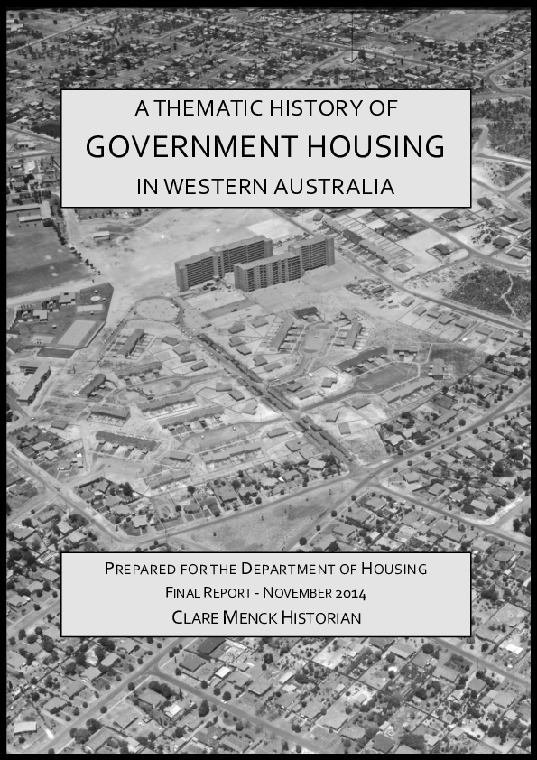 Thematic history of government housing in Western Australia