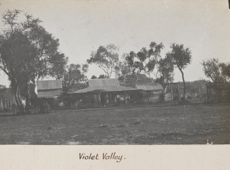 "Violet Valley - WA Government Aboriginal Reserve (Feeding Station) - Photographed circa 1920 by Auber Octavius ""AO"" Neville, Chief Protector of Aborigines - Courtesy of SLWA"